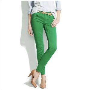 Madewell Skinny Pants Green Ankle Size 0